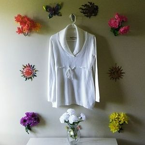 Maternity White Pretty Sweater
